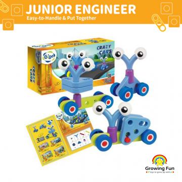Gigo Junior Engineer Crazy Cars (14 Pieces)