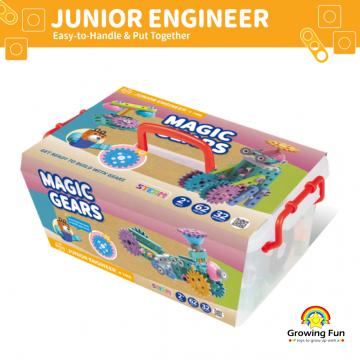 Gigo Junior Engineer - Magic Gears (62 Pieces)