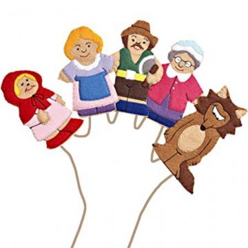 King Dam Felt Finger Puppets - Red Riding Hood storytelling