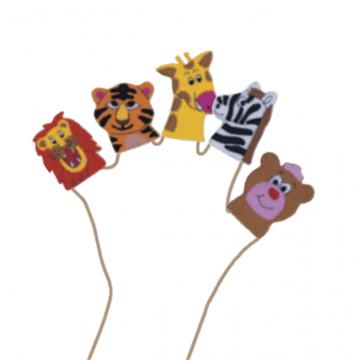 King Dam Felt Finger Puppets - Wild Animals storytelling