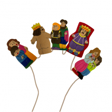 King Dam Felt Finger Puppets - The Emperors New Clothes