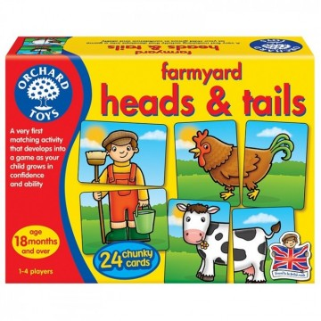 Orchard Toys Game - Farmyard Heads and Tails