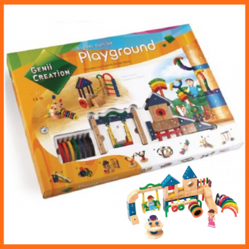 8_GENII Wooden Magnetic Toys Playground