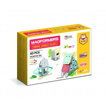 Magformers - Animal Jumble Set (40 Pieces) | Age 18 Months +
