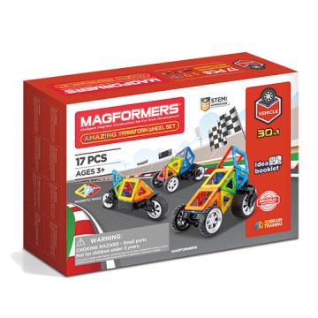 Magformers Amazing Transform Wheel Set (17 Pieces)