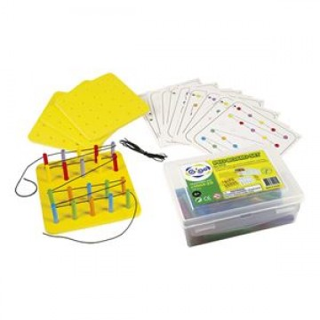 Peg Board Set with Work Cards