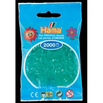 HAMA - Mini - 2,000 bead bag (translucent green)