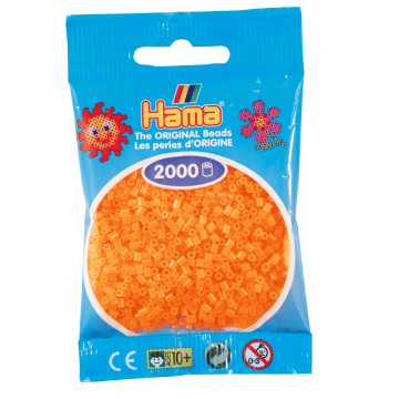 HAMA - Mini - 2,000 bead bag (Neon Orange)