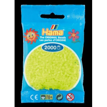 HAMA - Mini - 2,000 bead bag (fluorescent yellow)