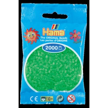 HAMA - Mini - 2,000 bead bag (fluorescent green)