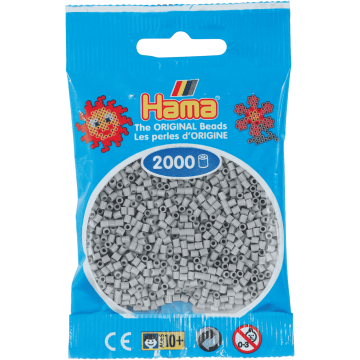 HAMA - Mini - 2,000 bead bag (Light Grey)