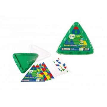 Pattern Blocks Triangular Work Tray