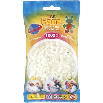 HAMA - Midi - 1,000 bead bag (glow in the dark green)