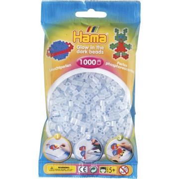 HAMA - Midi - 1,000 bead bag (glow in the dark blue)