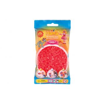 HAMA - 1,000 Midi Beads (neon red)