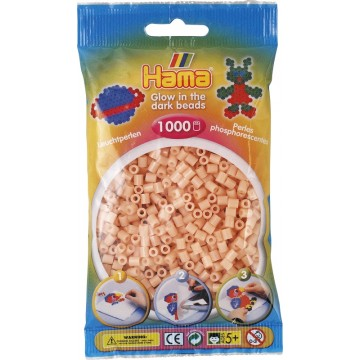 HAMA - Midi - 1,000 bead bag (glow in the dark red)