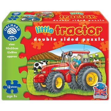 Orchard Toys Early Learning Puzzle - Little Tractor (double sided puzzle)