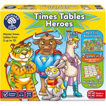 Orchard Toys - Times Tables Heroes Game | Age 6 - 9